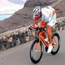 Martin Lieberz beim Training auf dem Rennrad.
