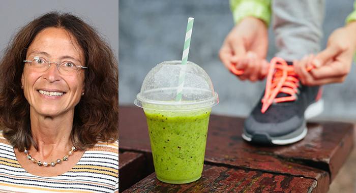 Prof. Dr. Klara Brixius ist die Studiengangleiterin des neuen Weiterbildungsmasters M.Sc. Sport, Bewegung und Ernährung. Foto rechts:©Dirima/Shutterstock.com
