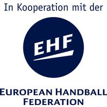 EHF Logo mit Hinweis auf die Kooperation mit der DSHS Köln