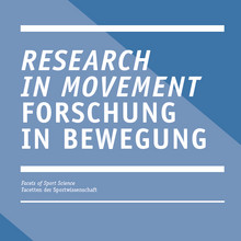 Forschung in Bewegung / Research in movement - Cover